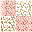 Stock Vector: Set of xmas wallpaper