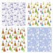 Set of winter wallpaper — Stock Vector