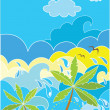 Stock Vector: Summer holiday poster with palm