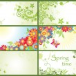Spring horizontal banners — Stock Vector
