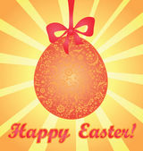 Easter card with decorative egg — Stockvector
