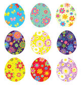 Colorful easter painted eggs — Stock Vector