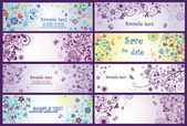 Greeting banners — Stock Vector