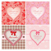 Greeting labels with hearts — Stock Vector