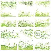Set of spring backrounds — Stock Vector