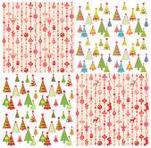Set of xmas wallpaper — Vector de stock