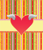 Colorful label with heart — Stock Vector