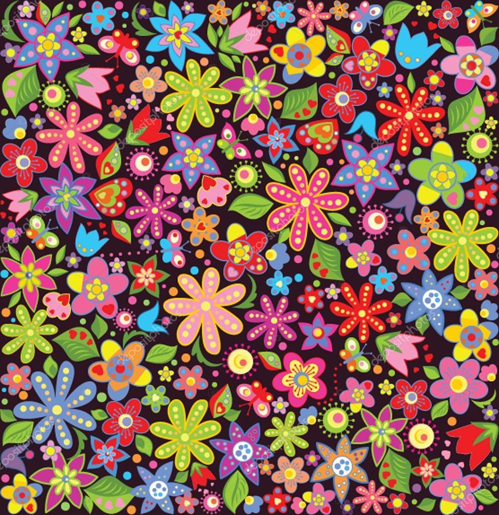 Fond décran lumineux avec fleurs dété Image vectorielle antonovaolena © #40553795