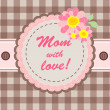 Stock Photo: Greeting card for mom