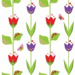 Vecteur: Funny spring wallpaper with tulip
