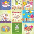 Funny easter cards — Stock Vector
