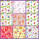 Funny wallpapers collection — Stock Vector