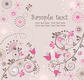 Carte floral abstrait de voeux — Vecteur
