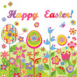 Stock Vector: Happy easter!