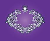 Royal violet heading — Stock Vector