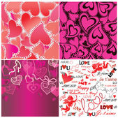 Set of valentines day wallpaper — Stock Vector