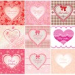 Arrival labels with cute hearts — Stock Vector