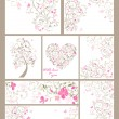 Collection of beautiful greetings — Stock Vector