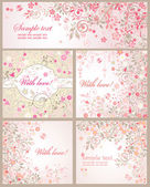 Beautiful arrival cards — Stock Vector