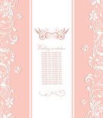 Beautiful pink invitation — Stock Vector