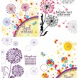 Spring cards with dandelion — Stock Vector #43559789