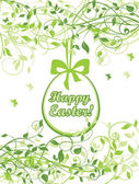 Spring easter card — Vecteur