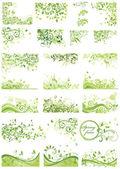 Set of spring green design — Stock Vector