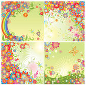Spring cards — Stock Vector