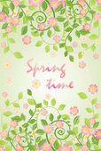 Spring banner with apple-tree blossom — Stock Vector