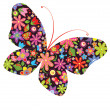 Print with butterfly — Stock Vector #44520421
