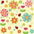 Spring seamless pattern — Stock Vector #44520659