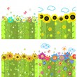 Floral spring, summery and autumnal wallpapers — Stock Vector #47677097