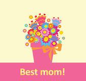 Greeting for best mom! — Stock vektor