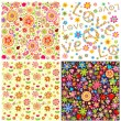 Abstract floral wallpapers — Stock Vector #51025619