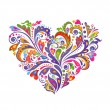 Colorful floral heart — Stock Vector #51026483