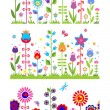 Seamless floral abstract borders — Stock Vector #51027103