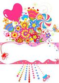 Abstract greeting bouquet — Stock Vector
