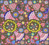 Floral retro behangpapier — Stockvector