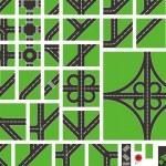 yol harita öğelerini bir izometrik örnek ile vektör — Stok Vektör