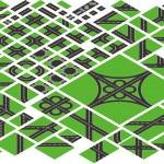 izometrik yol harita öğeleri vektör — Stok Vektör