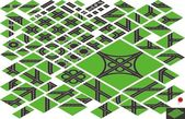 Vector isometric road map elements — Stock Vector