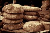 村のライ麦パン — ストック写真