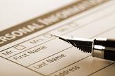 Remplir le formulaire de document — Photo