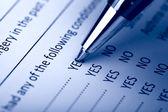Vullen het formulier document — Stockfoto