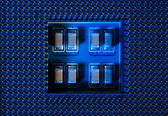 Circuit Board Background, Processor Socket — Stock Photo