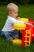 Child in the meadow — Stock Photo