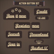 Action button set — Stock Vector #19133961