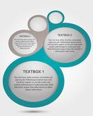 Textruta — Stockvektor