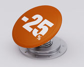 Orange Discount Button — Stock Photo