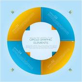 CIrcle Info Graph — Stock Vector